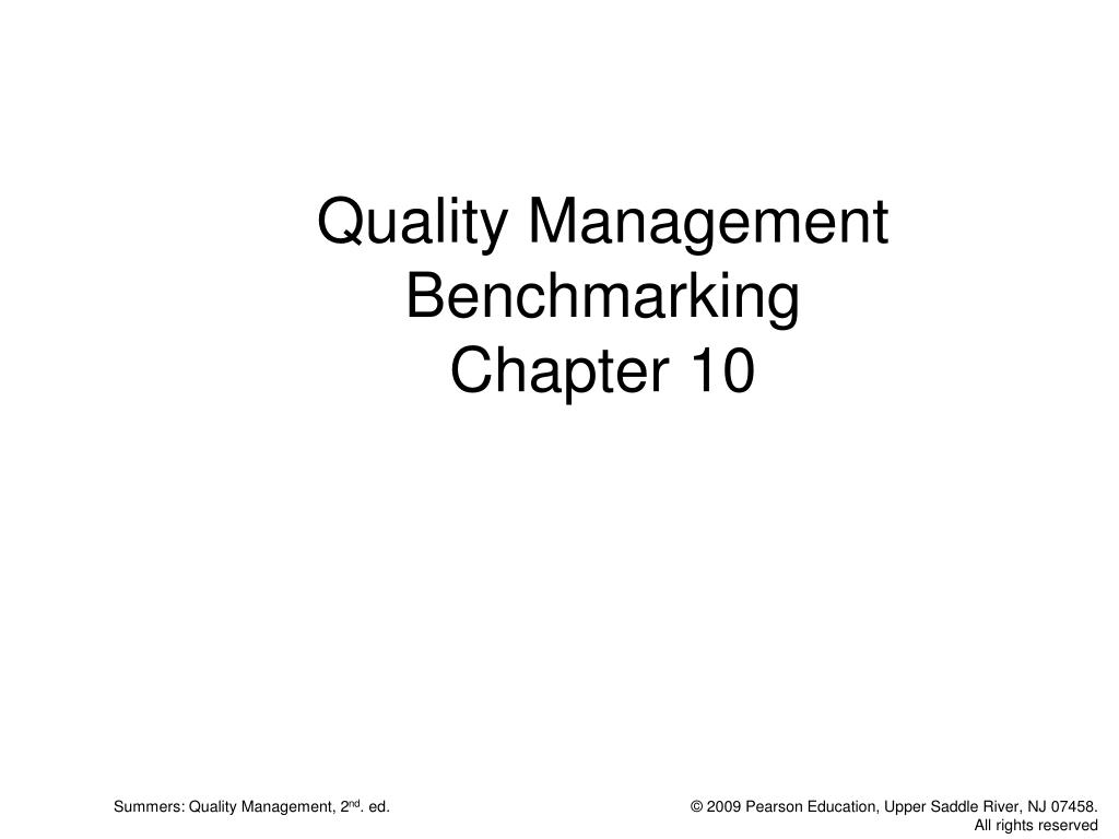 quality management benchmarking chapter 10 l.