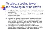 to select a cooling tower the following must be known27