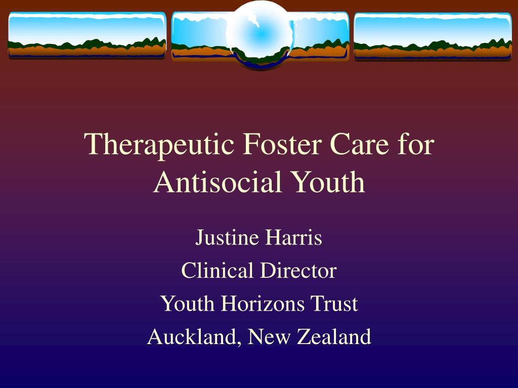 therapeutic foster care for antisocial youth l.