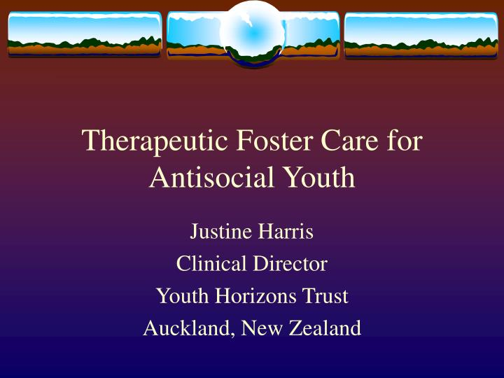 therapeutic foster care for antisocial youth n.
