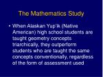 the mathematics study