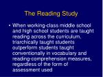 the reading study