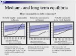 medium and long term equilibria how sustainable is debt to income