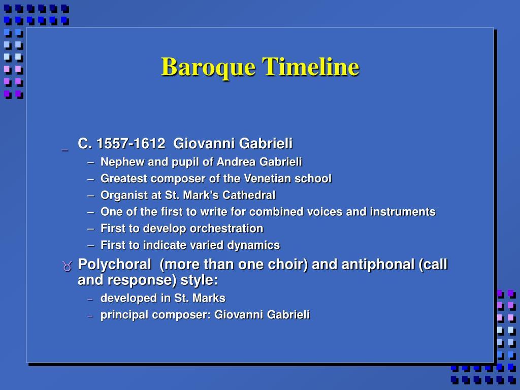 Baroque Timeline
