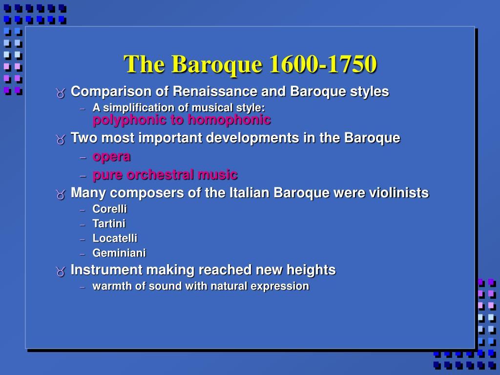 the baroque 1600 1750 l.