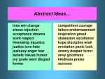 abstract ideas