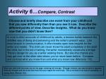 activity 6 compare contrast
