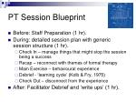 pt session blueprint
