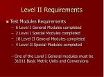 level ii requirements