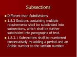 subsections