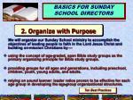 2 organize with purpose