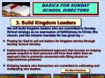 3 build kingdom leaders