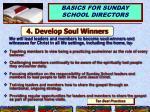 4 develop soul winners