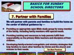 7 partner with families