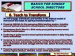 8 teach to transform