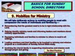 9 mobilize for ministry