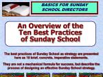 an overview of the ten best practices of sunday school