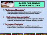 basics for sunday school directors15