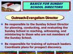 outreach evangelism director