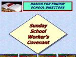 sunday school worker s covenant