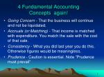 4 fundamental accounting concepts again
