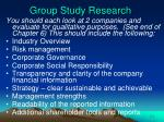 group study research