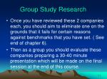 group study research52