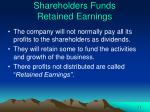 shareholders funds retained earnings
