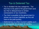 tax deferred tax