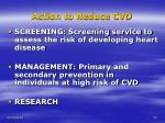 action to reduce cvd20