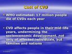 cost of cvd
