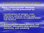 facts about prevention of cvd