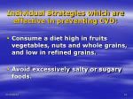 individual strategies which are effective in preventing cvd