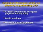 individual strategies which are effective in preventing cvd15