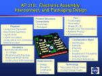 ap 210 electronic assembly interconnect and packaging design