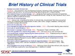 brief history of clinical trials