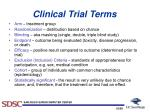clinical trial terms