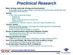 preclinical research