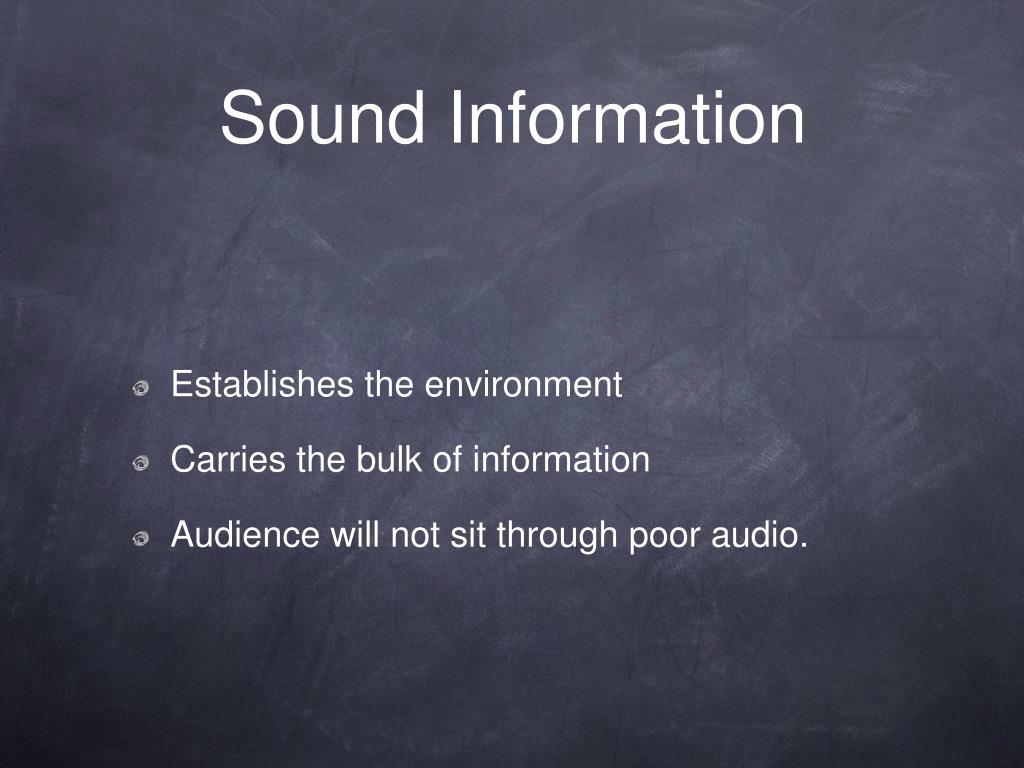 sound information l.