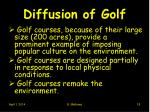 diffusion of golf