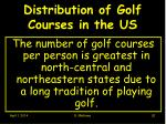 distribution of golf courses in the us