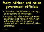 many african and asian government officials