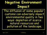 negative environment impact