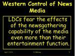 western control of news media