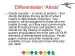 differentiation artists