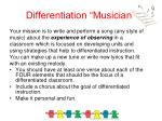 differentiation musician