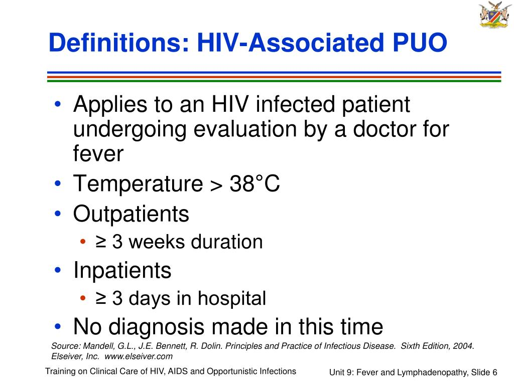 Definitions: HIV-Associated PUO