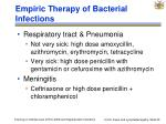 empiric therapy of bacterial infections