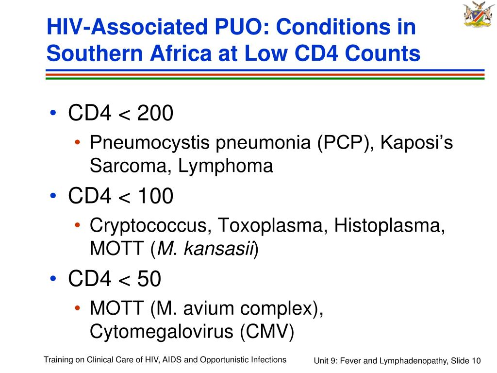 HIV-Associated PUO: Conditions in Southern Africa at Low CD4 Counts