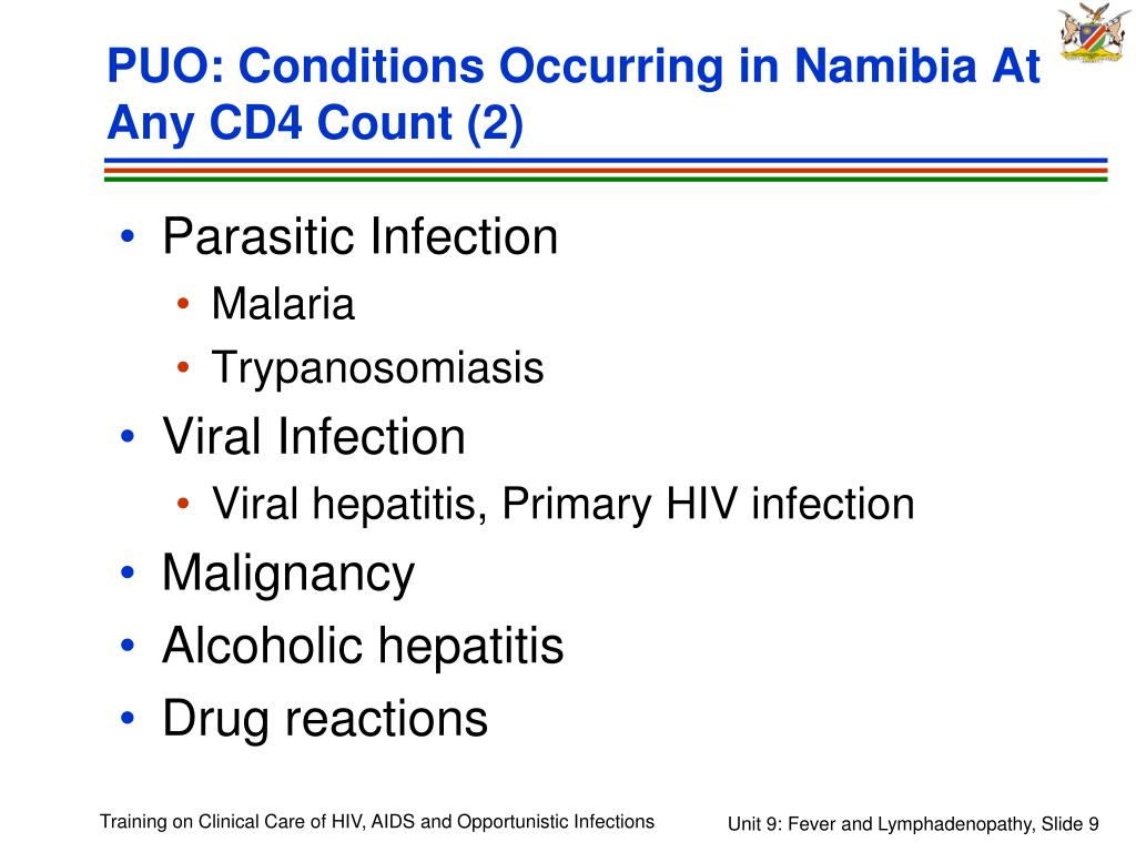 PUO: Conditions Occurring in Namibia At Any CD4 Count (2)